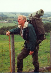 Author backpacking in his favourite Welsh mountains