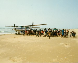 Makeshift airstrip in Mozambique