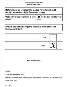 BREXIT Election 5  Poll Form