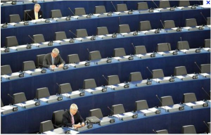EU parliament empty