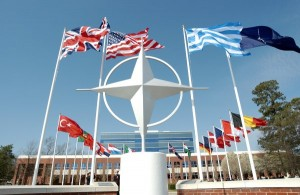 NATO HQ - with symbol & flags
